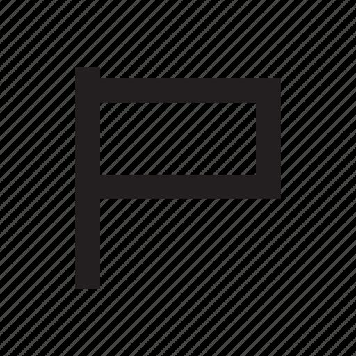 banner, flag, goal, success, target icon