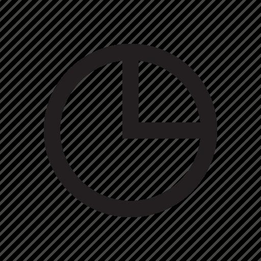 market share, marketing, pie chart, section, segment icon