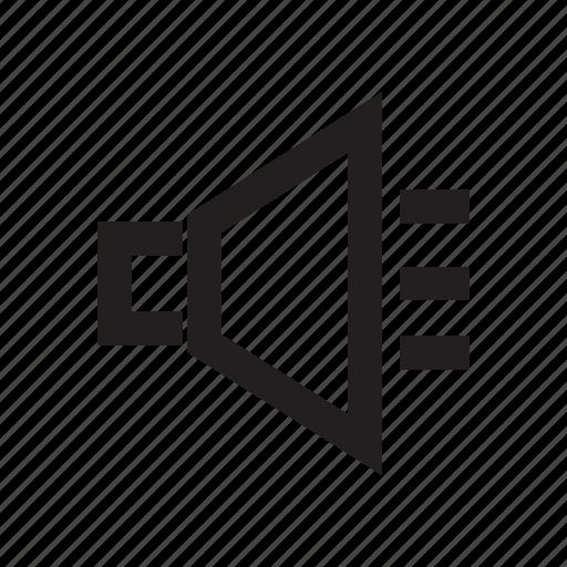 electronic, loudspeaker, megaphone, sound, voice icon