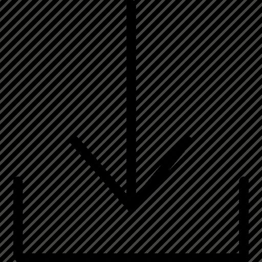 arrow, design, download, ui, web icon