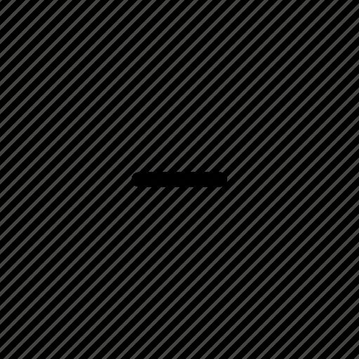 edge, line, minus, outline, remove, row, thin icon