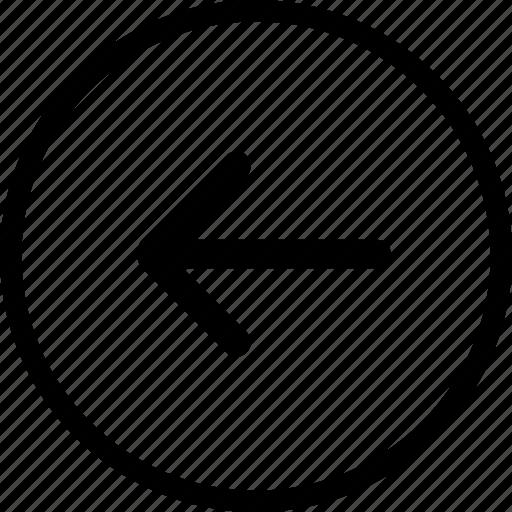 arrow, back, interface, previous, web icon