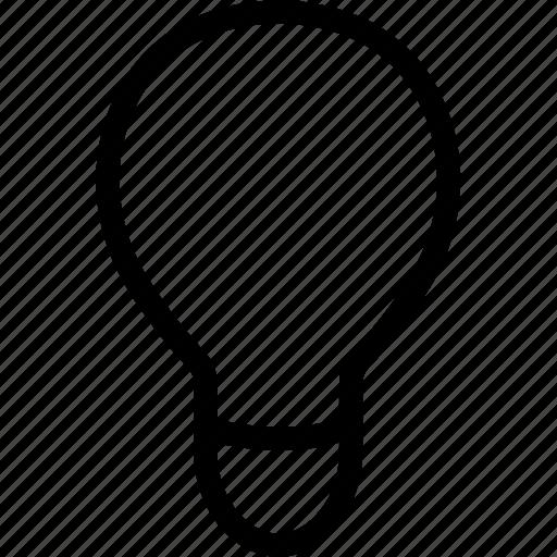 bulb, idea, interface, lamp, web icon