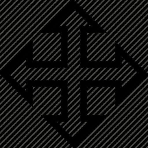 arrow, interface, move, slide, web icon
