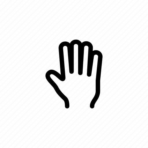finger, fingers, five, gesture, hand, tap, touch icon