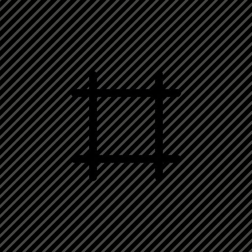 crop, cut, design, edit, graphic, image, picture icon