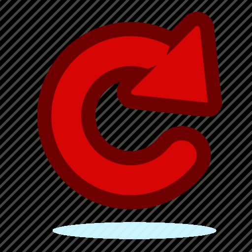 arrow, back, forward, redo, undo icon