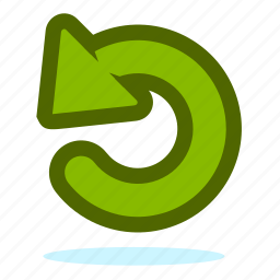 arrow, arrows, back, direction, left, refresh, rotate, sync, update icon