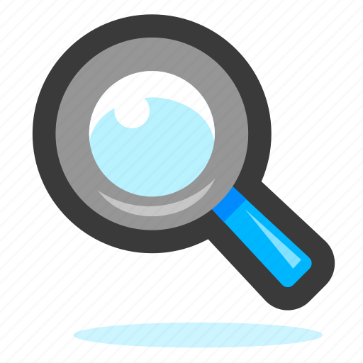explore, explorer, find, glass, look, magnifier, magnifying, search, view, zoom icon