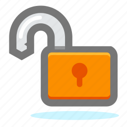 lock, locked, private, project, protect, protection, safety, secure, security, unlock icon