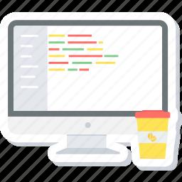 code, coding, design, development, html, program, programming icon