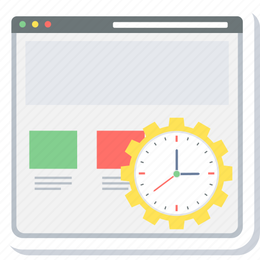 load, page, run time, time icon