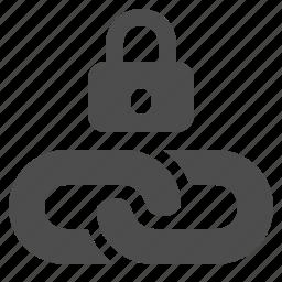 chain, hyperlink, link, lock, web, web link icon