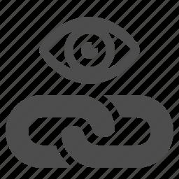 eye, hyperlink, link, web, web link icon
