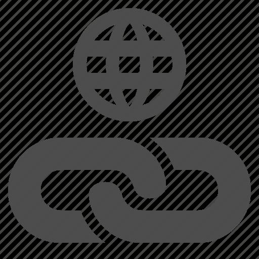 chain, hyperlink, internet, link, web, web link icon