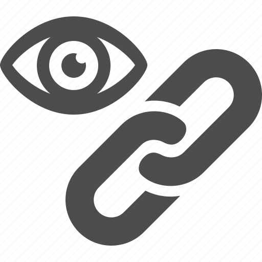 chain, eye, hyperlink, internet, link, web, web link icon