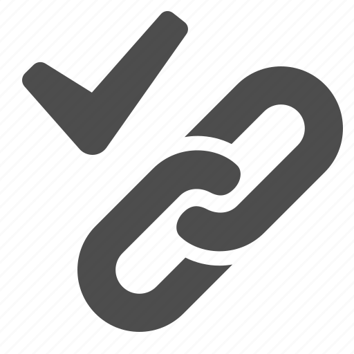 chain, check mark, hyperlink, link, web, web link icon