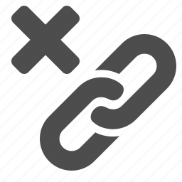 cancel, chain, hyperlink, link, web, web link, x icon