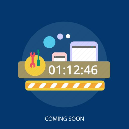 coming, countdown, internet, maintenance, repair, soon, website icon
