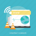 construct, internet, maintenance, page, repair, website, world icon