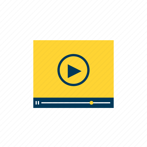 digital, media, music, player, video icon
