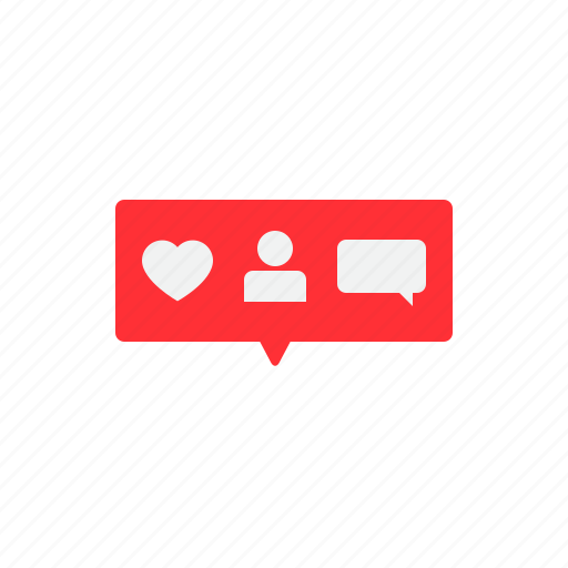 comment, like, love, notifications, request, social icon