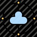 cloud, network, server, storage