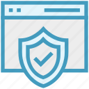antivirus, code, coding, program, shield, software, website icon