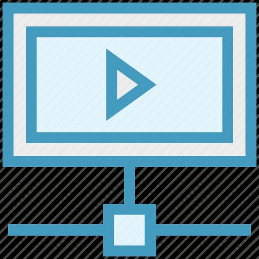 advertising, marketing, media, play, promotion, video, web icon
