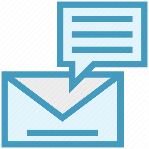 chat, email, envelope, inbox, letter, marketing, message icon