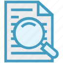 contact, data, document, file, find, magnifier, search icon