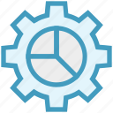 chart, cogwheel, configuration, data, gear, management, setup icon