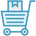 cart, carton, delivery, marketing, shopping, solutions, web icon