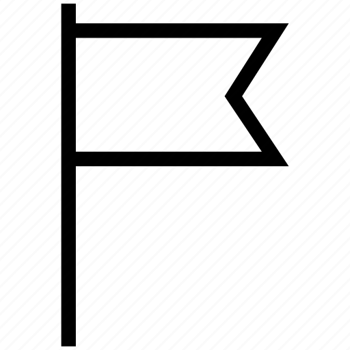 flag, location, sign, warning icon