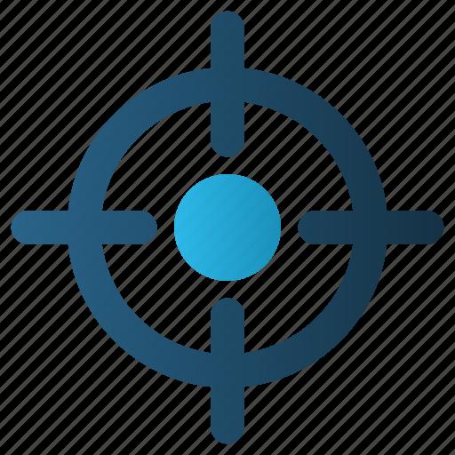 Aim, bullseye, focus, goal, gun, objective, target icon - Download on Iconfinder