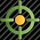 aim, bullseye, focus, goal, gun, objective, target icon