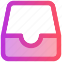 archives, data, document, file, folder, open, web icon