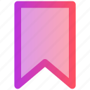 bookmark, ribbon, web icon