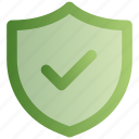 check, protection, safety, security, shield, successfully, tick