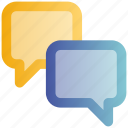bubble, chat, chatting, communication, message, sms, talk icon
