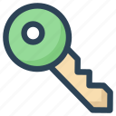 key, login, open, password, private, secure, success icon