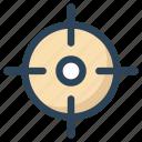 aim, bullseye, focus, goal, gun, objective, target