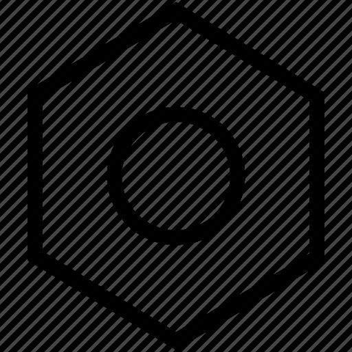 internal, nut, screw, tool icon