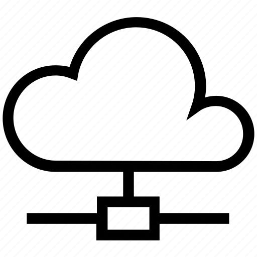cloud computing, connection, network, server icon