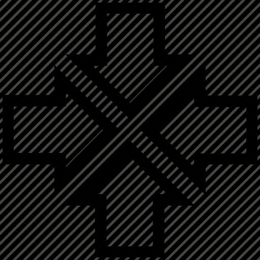 arrows, four, resize, web icon