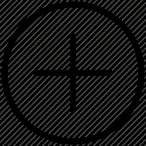 add, circle, plus, web icon