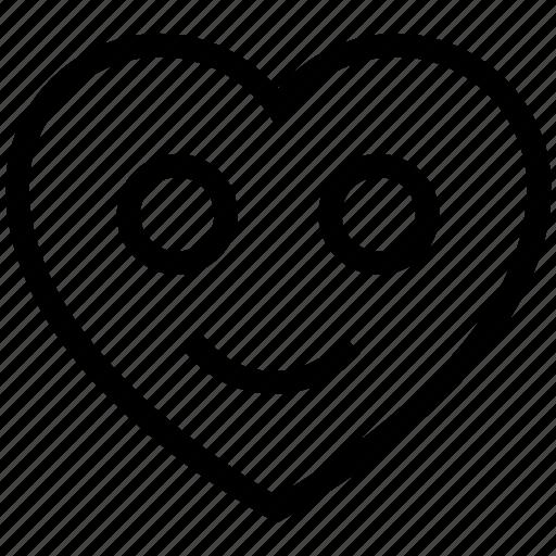 favorite, heart, like, love, smile icon