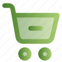 buy, cart, minus, online, shopping, trolley, web icon