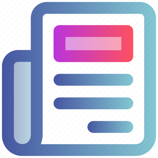 Article, blog, content, headline, news, newspaper icon - Download on Iconfinder