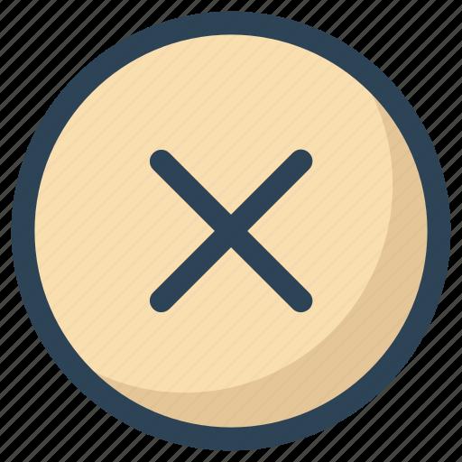 cancel, circle, close, cross, reject icon